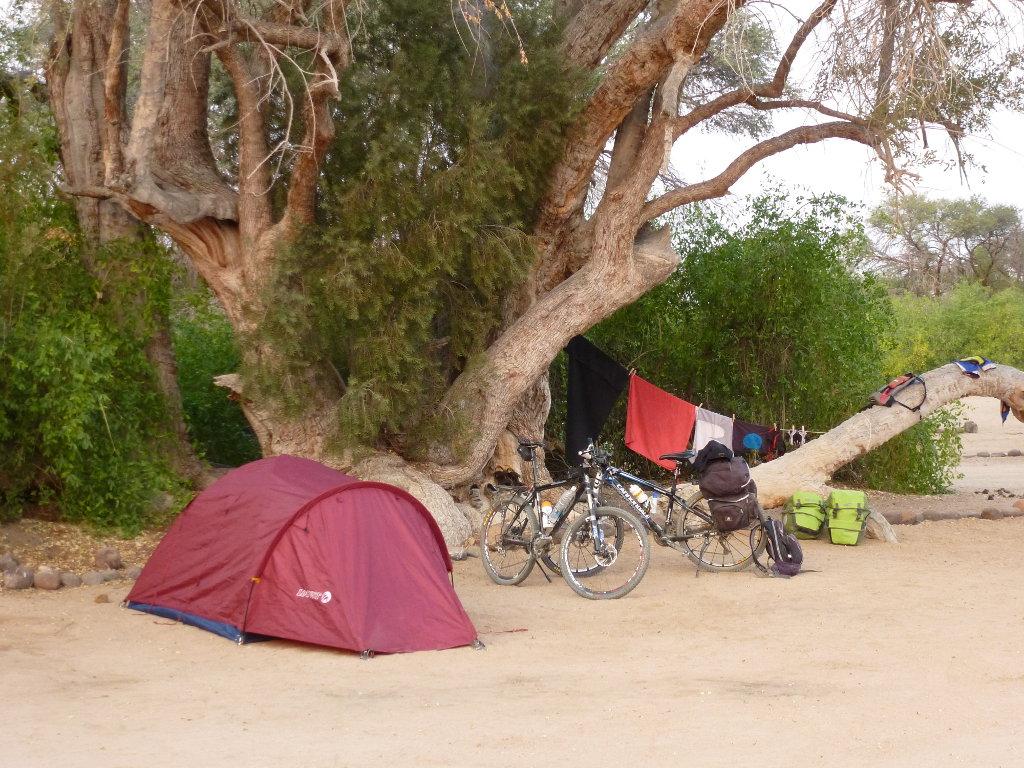 Acampada en el desierto